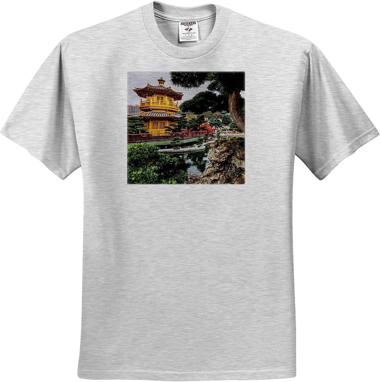 3dRose Danita Delimont - Places - Pagoda at The Chi Lin Nunnery and Nan Lian Garden, Hong Kong, China. - Youth Birch-Gray-T-Shirt Small(6-8) (ts_329483_28)
