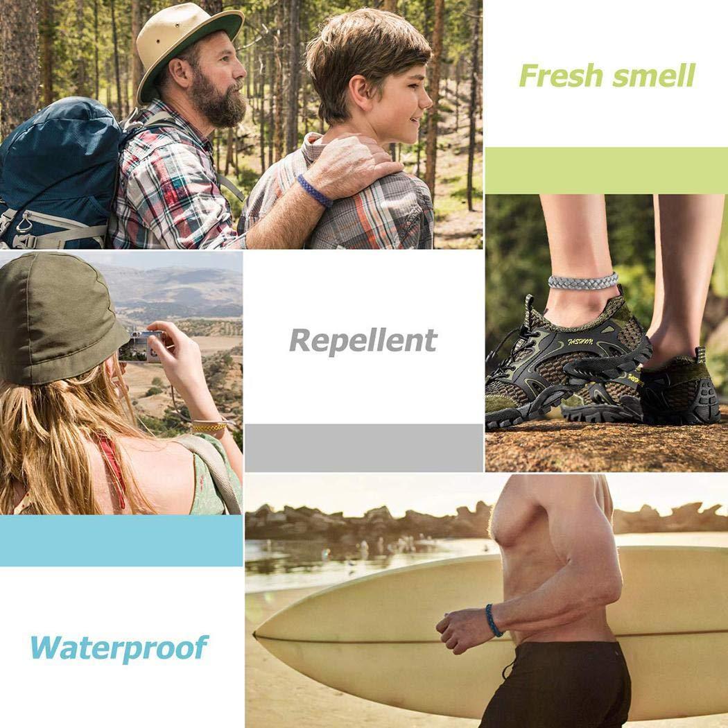 Creine Pulsera Repelente de Mosquitos Trenzada Unisex Anti-Mosquito Pulsera Abejas, Avispas y avispones