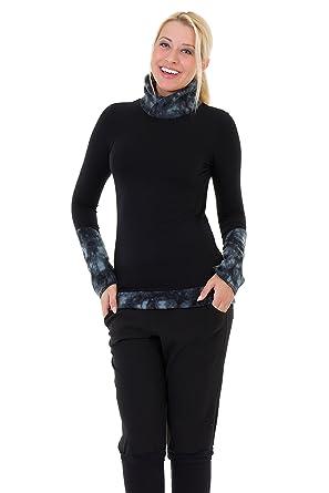 new concept 21b32 42e02 3Elfen Rollkragenpullover schwarz mit Fleecekragen für Damen der Marke