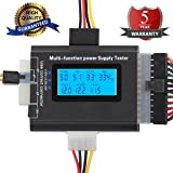 20/24 4/6/8 PIN Computer PC Laptop Power Supply Tester (5th Generation) for ATX, ITX, BTX, IDE,PCI-E HDD,SATA, BYI Connectors,, 1.8'' LCD Screen