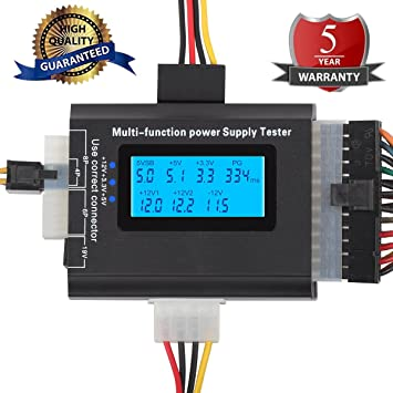 Amazon.com: 20/24 4/6/8 PIN Computer PC Laptop Power Supply Tester ...