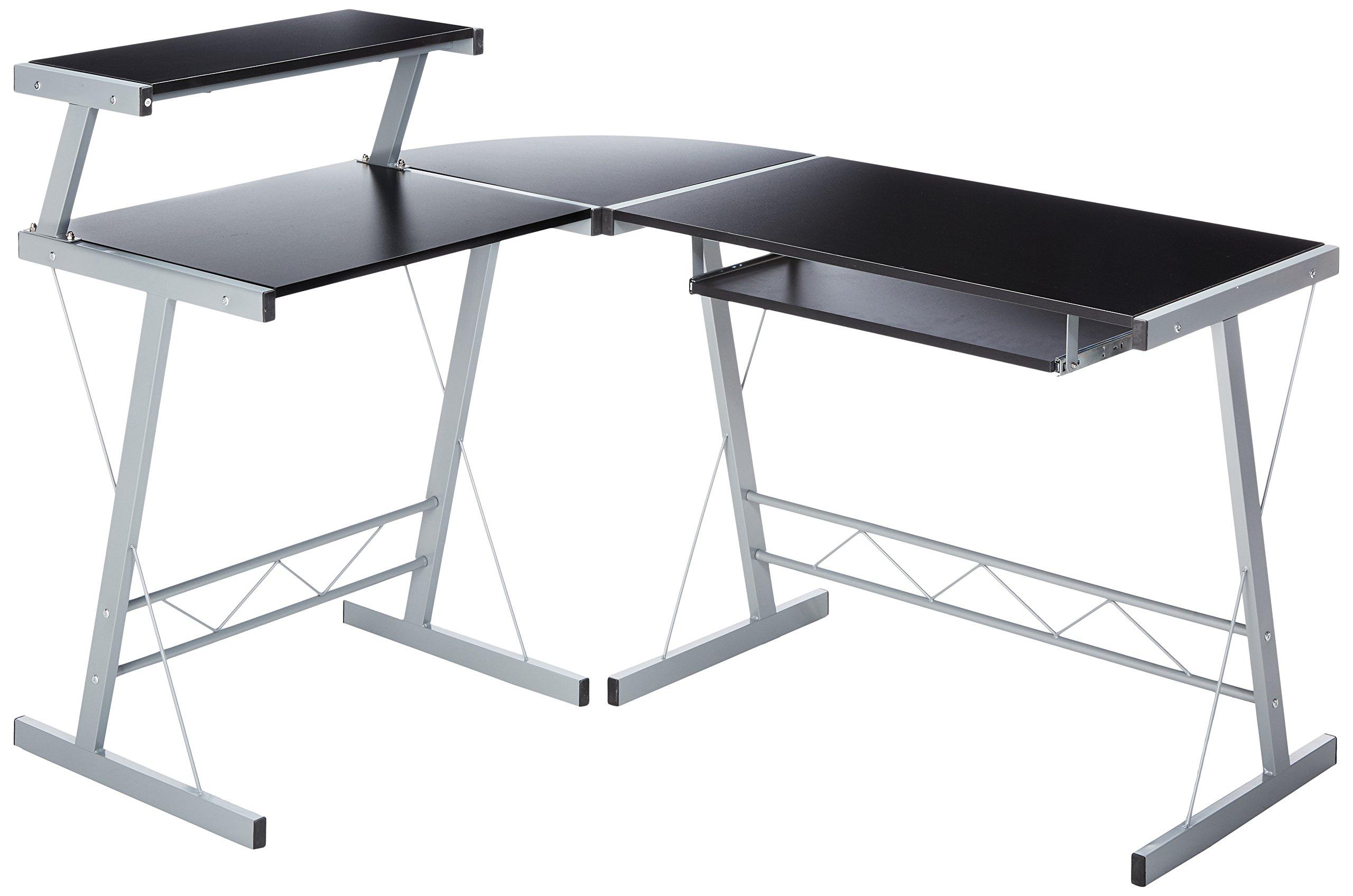 bhg l shape computer desk black ebay. Black Bedroom Furniture Sets. Home Design Ideas