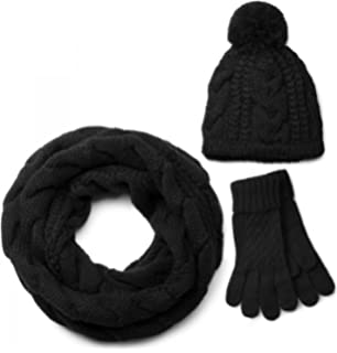 f852c38e7a5 VEDONEIRE Mens Hat Scarf Gloves Set (3022) winter warm christmas ...