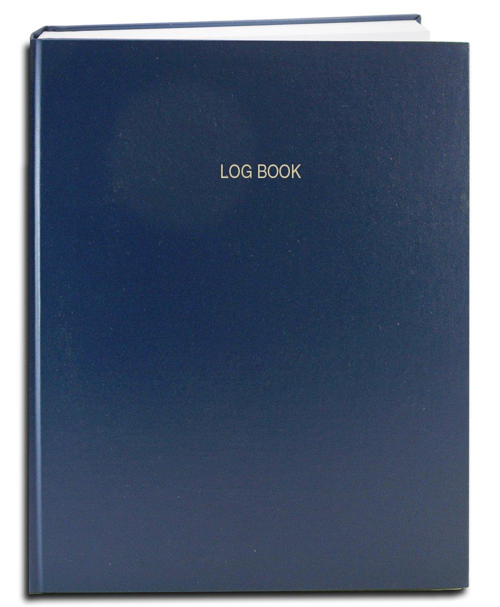 BookFactory Log Book / Multipurpose Log Book - 96 Pages, 8'' x 10'', Blue Cover, Smyth Sewn Hardbound (LOG-096-SRS-A-LBT2)