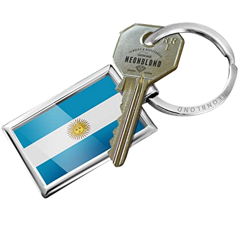 Amazon.com: Llavero bandera de Argentina – Neonblond: Automotive