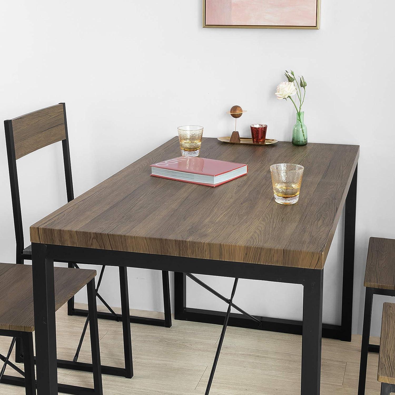 Set Sala Da Pranzo Casa E Cucina Sobuy Set Tavolo Da Pranzo Con 4 Sedie Tavolo E Sedie Cucina Stile Vintage L100 P70 A75 Cm Ogt20 N Fst67x4