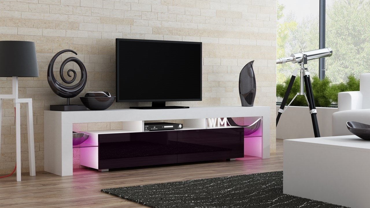 tv stand milano   modern led tv cabinet  living room  - tv stand milano   modern led tv cabinet  living room furniture  tvcabinet fit for up to inch tv screens  high capacity tv console formodern