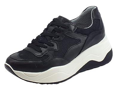 IGI&Co Sneakers per Donna in Pelle e Rete Nera Modello
