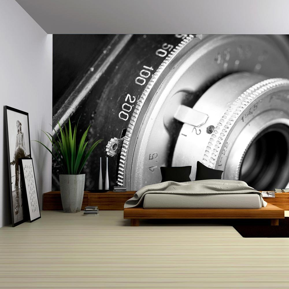 wall26 com art prints framed art canvas prints greeting wall26 closeup of old retro cmena film camera lens removable wall mural self adhesive large wallpaper 100x144 inches