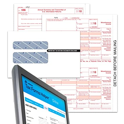 Amazon Com Adams 1099 Misc Tax Forms For 2018 4 Part Inkjet Laser