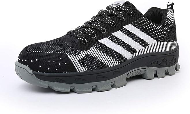Yeeper Zapatillas de Seguridad Deportivos con Puntera de Acero/Zapatos de Trabajo Transpirable Resistente a Las Perforaciones para Unisex: Amazon.es: Zapatos y complementos