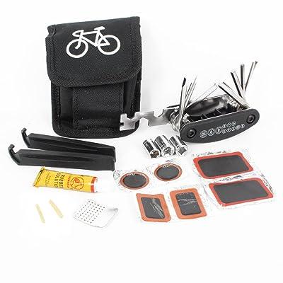 Andux Zone Bike tool kits,Pneus de vélos Repair Tool Kits Ensemble complet avec kit de Patch et démonte-pneus CS/WXGJ01