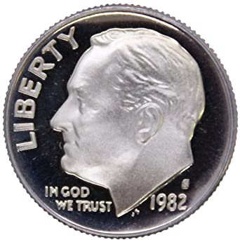 1982 P 10c Roosevelt Dime US Coin BU Uncirculated Mint State