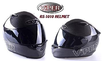 Viper rs1010 – Casco de Moto, ecer ACU Full Face de carbono carbono extra-