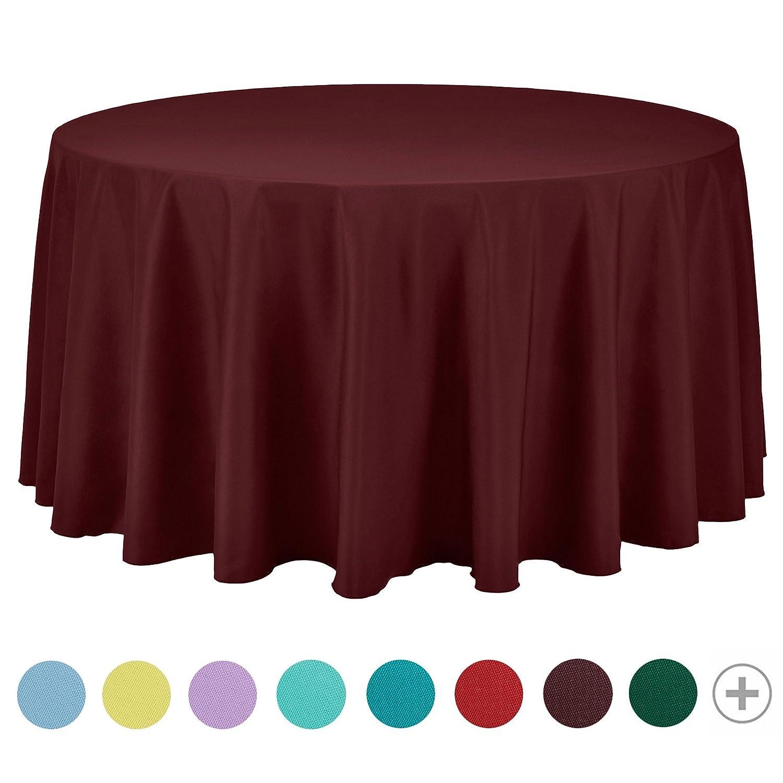 un restaurant rectangulaire ou carr/ée En polyester Nappe VEEYOO une f/ête Pour table ronde Unie Round-178 cm Tissu Pour un mariage bleu b/éb/é