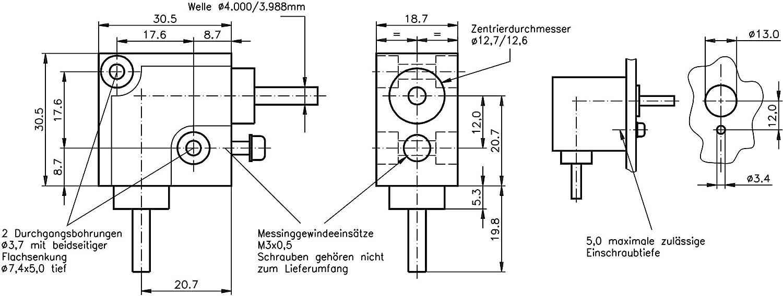 type B Bevel gearbox type HUG i=1:1