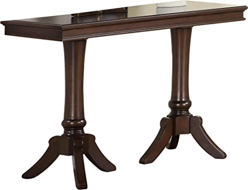 Homelegance Marston Contemporary Rectangular Sofa Table with Pedestal Base, Dark Cherry