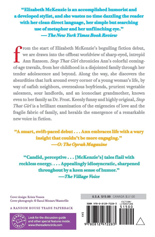 Stop That Girl: Fiction: Elizabeth Mckenzie: 9780812972283: Amazon:  Books