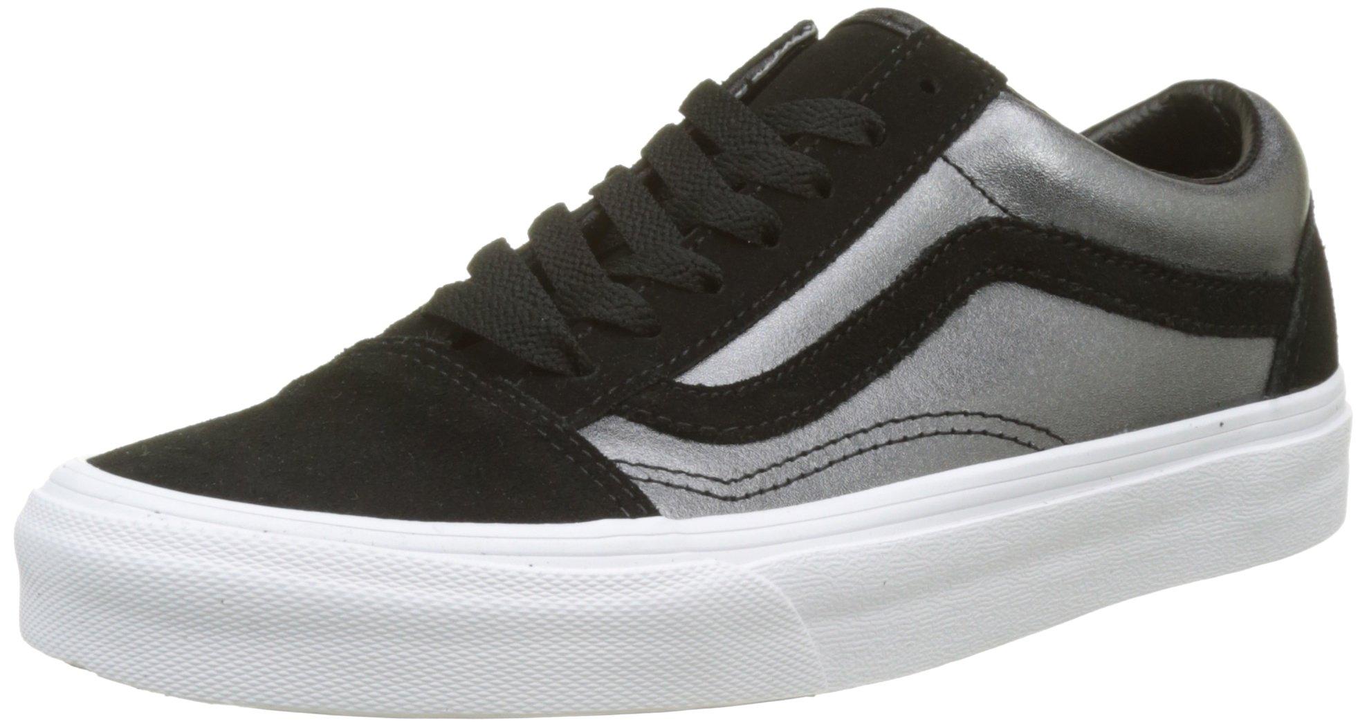 6ef2a20f22c Vans Old Skool Leather Mens Skateboarding-Shoes VN-A38G1QS6 7.5 - Black Two  Tone Metallic