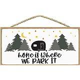 Camper Decor - RV Decor - Camper Decorations - Happy Camper Decor - Camping Decor Sign - Camping Sign 5 x 10 inches (Horizont
