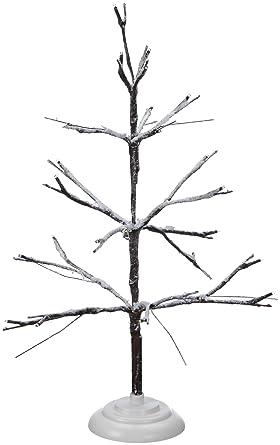 Mini Weihnachtsbaum Mit Batterie.Kaemingk Batterie Mini Weihnachtsbaum Beschneit Mit Led Beleuchtung 50 Cm 24 Lichter Grünes Kabel Warmweiße Dioden 497081