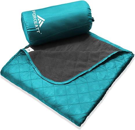 Acampar Picnic Yoga Manta de Camping Port/átil Forceatt Manta de Picnic Peque/ña Manta Impermeable Ultraligera de Bolsillo 140 cm * 200 cm Viajes al Aire Libre