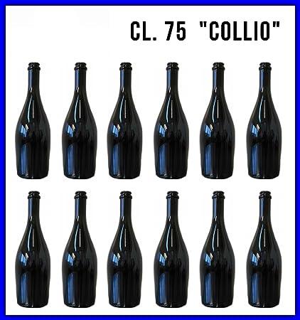 12 Botellas de cristal Collio cl. 75 vacíos para cerveza, vino, aceite