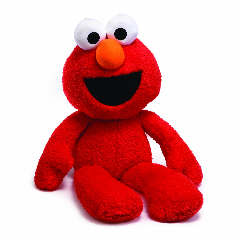 amazon com gund sesame street elmo jumbo take along stuffed animal