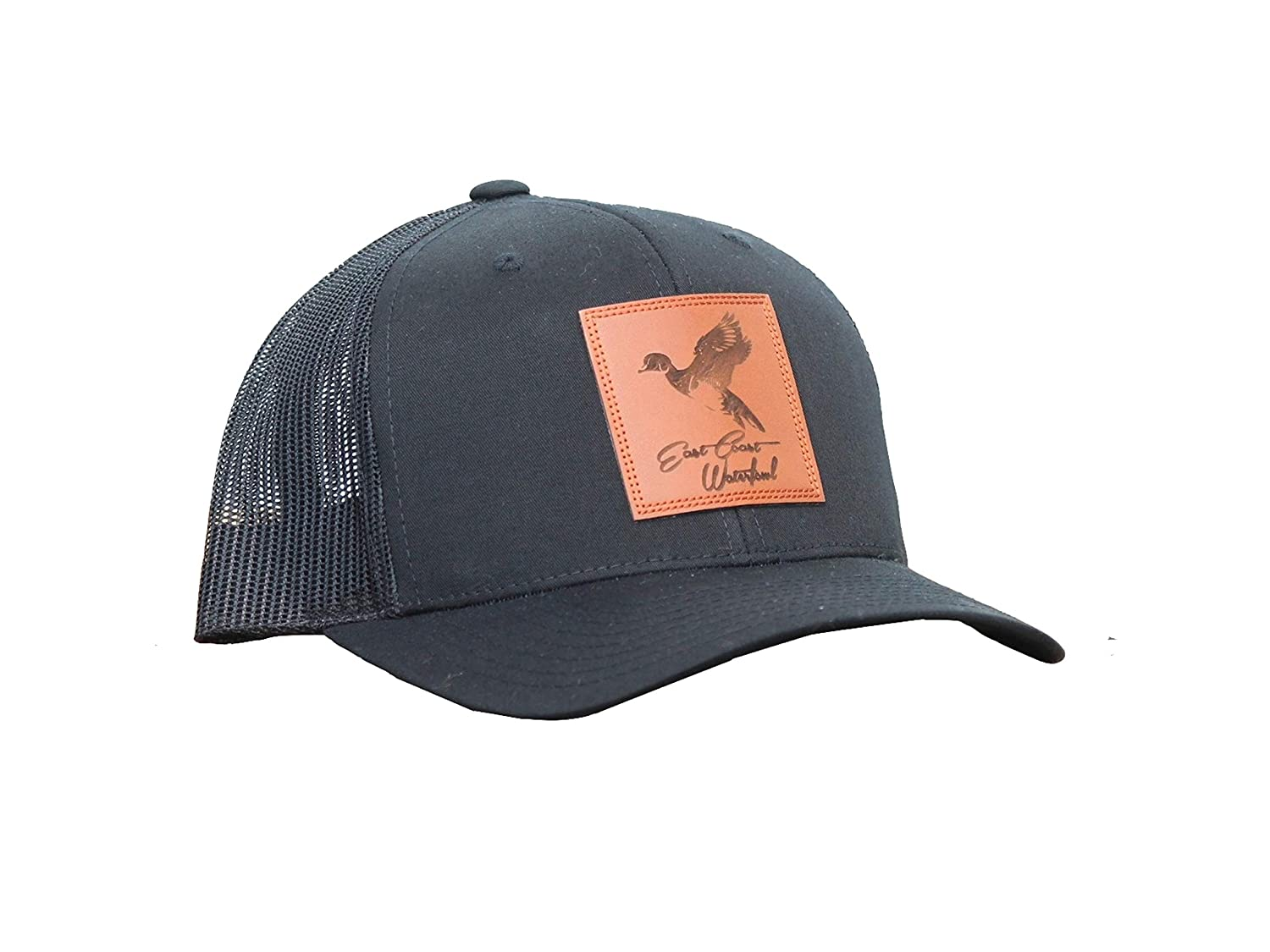 96f1909461d5b Amazon.com   Hunting and Fishing Depot Wood Duck Leather Patch Trucker Hat