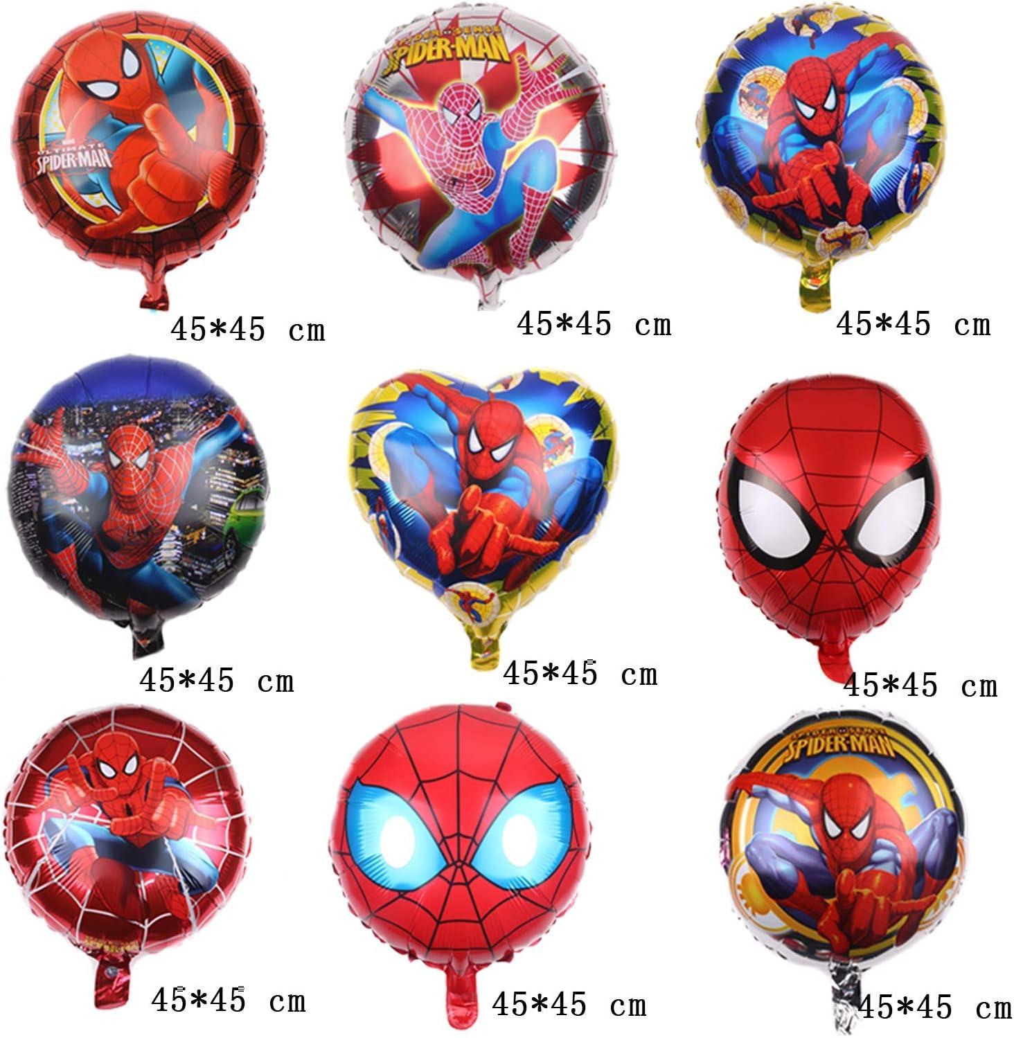 Color : 00 Qsdxlsd Globo 1 Juego de Spiderman SupperHero N/úmero Globo de Fiesta de cumplea/ños Globos de la Hoja de decoraci/ón Juguete Suministros Regalos de los ni/ños