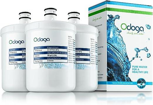 5231JA2002B WF-290 5231JA2002A 46-9890 ADQ72910902 WSL-1 GEN11042F-08 Kenmore GEN11042FR-08 ADQ72910901 AQUACREST LT500P Filtro de agua del refrigerador compatible con LG LT500P 3 Pack