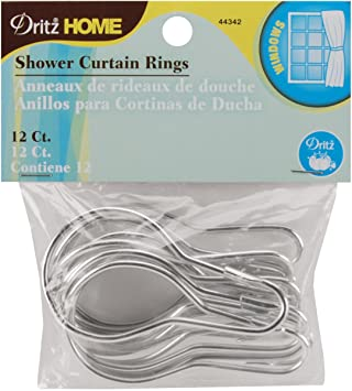 Curtains Ideas 2 inch curtain rings with clips : Amazon.com: Dritz 44342 Shower Curtain Rings, 2-3/4 by 1-1/2-Inch ...