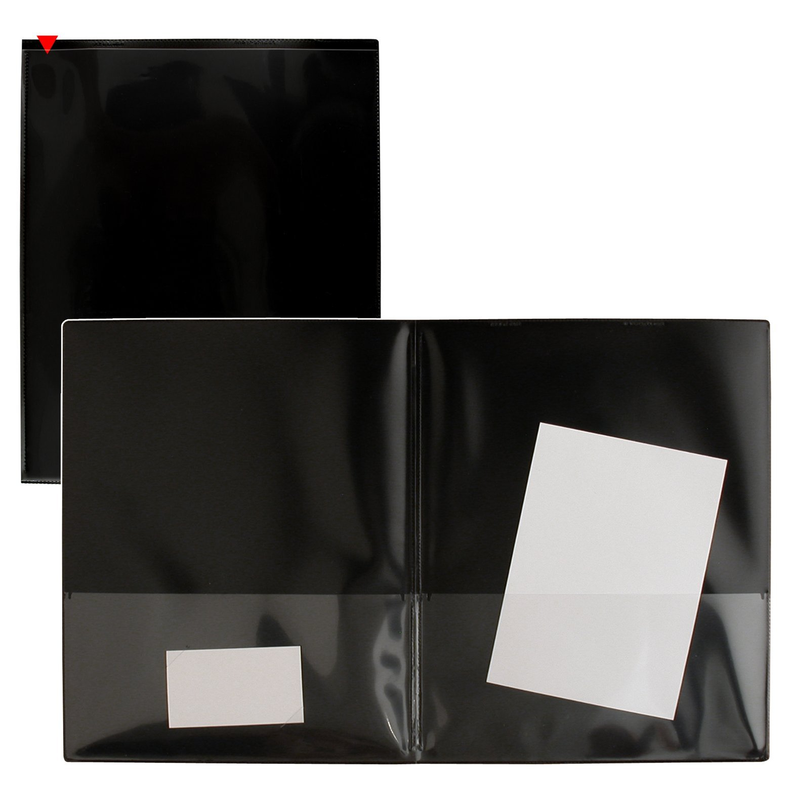 StoreSMART® Black Plastic Archival Folders 100-pack - Letter-Size Twin Pocket - (R900BK100)
