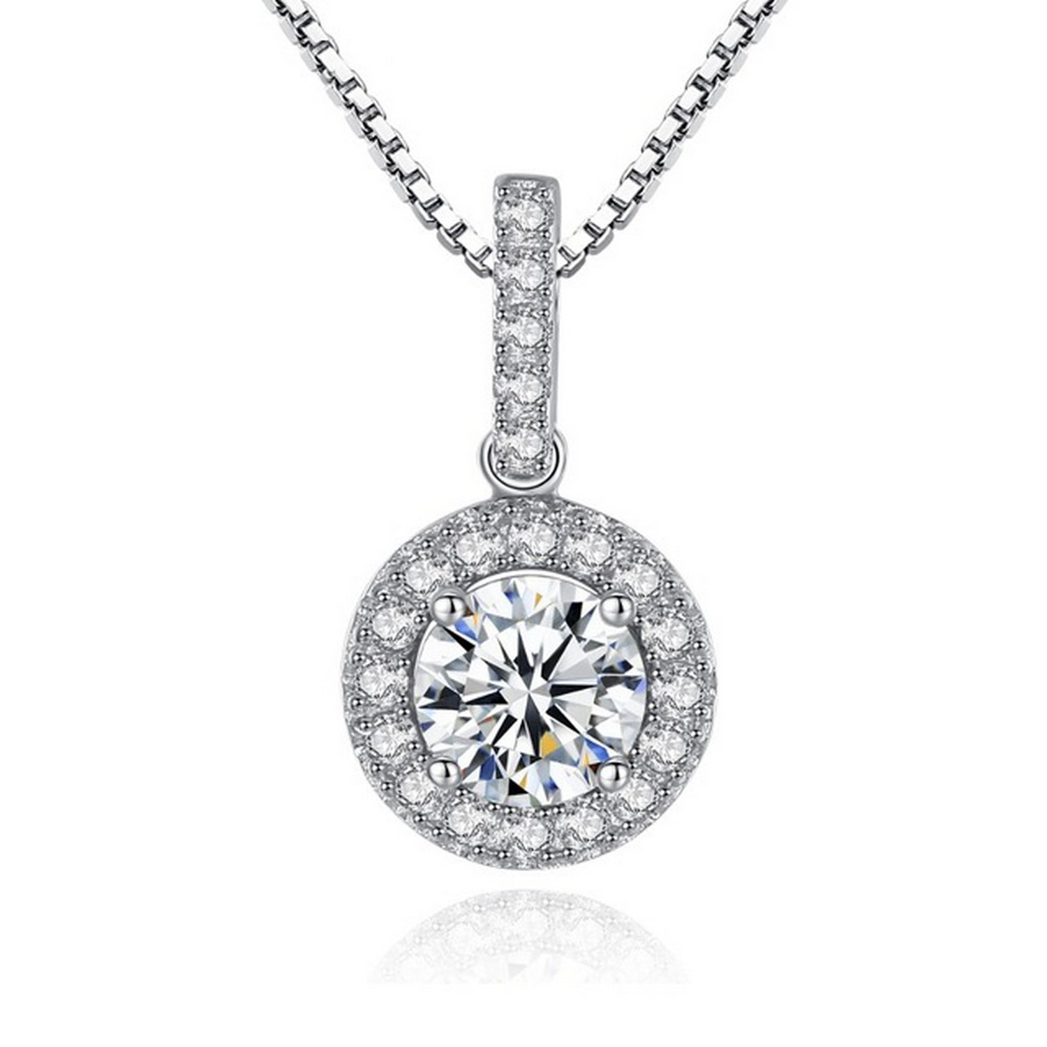 CS-DB Jewelry Silver CZ Gift Chain Charm Pendants Necklaces