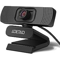 LOETAD Cámara Web 1080P Full HD Webcam con Micrófono Estéreo para Video Chat y Grabación Compatible con Windows, Mac y Android