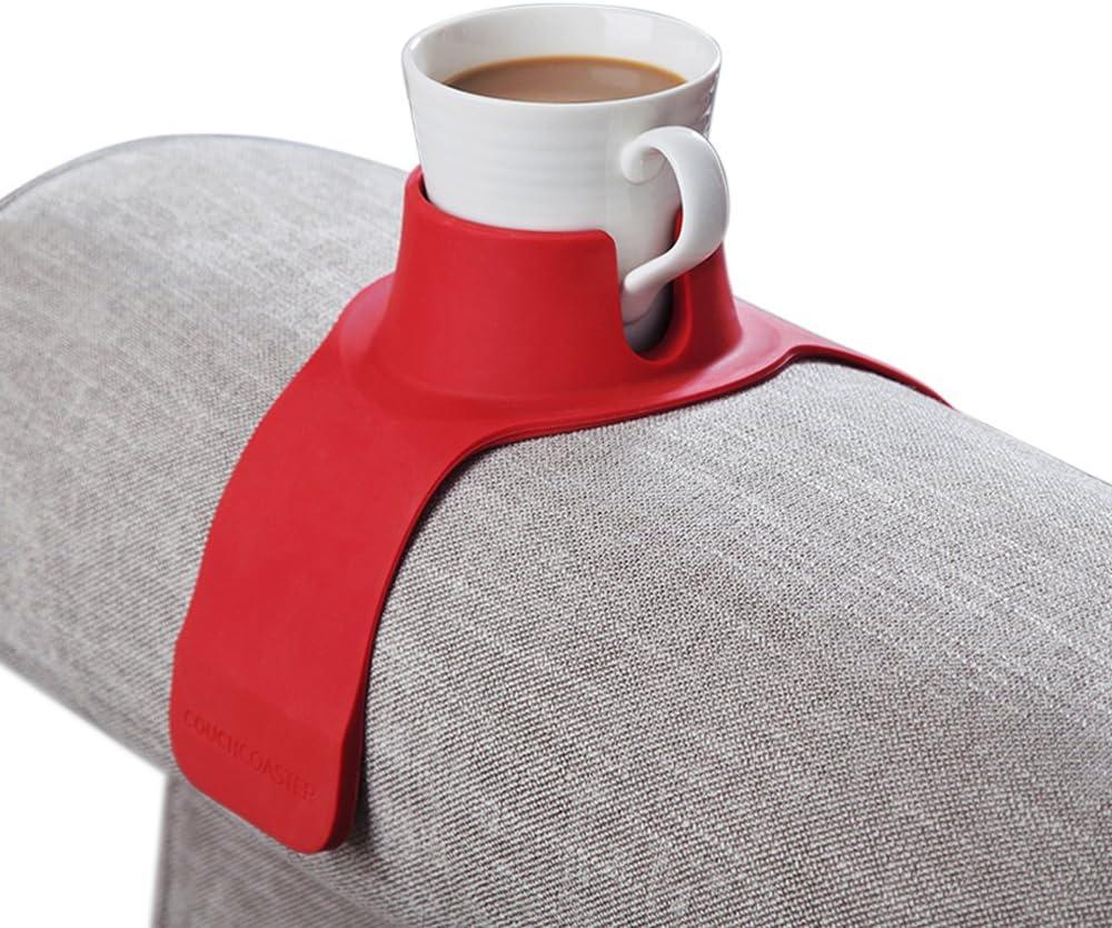 Reposavasos de bebidas para su sillón o sofá, color rojo