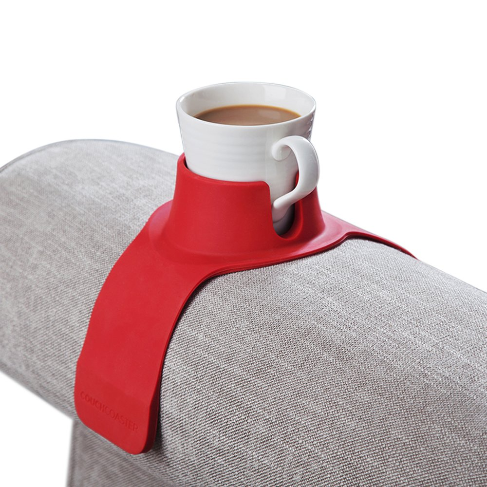 CouchCoaster – The Ultimate Anti-Spill Cup Holder Drink Coaster for Your Sofa or Couch, Jet Black