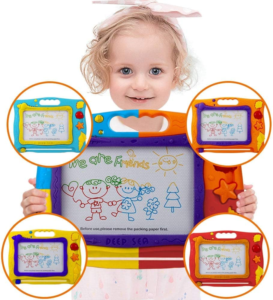 UNIH Magnetic Drawing Board - Magna Doodle Large Colorful Pad for Toddlers Kids Learning Toys
