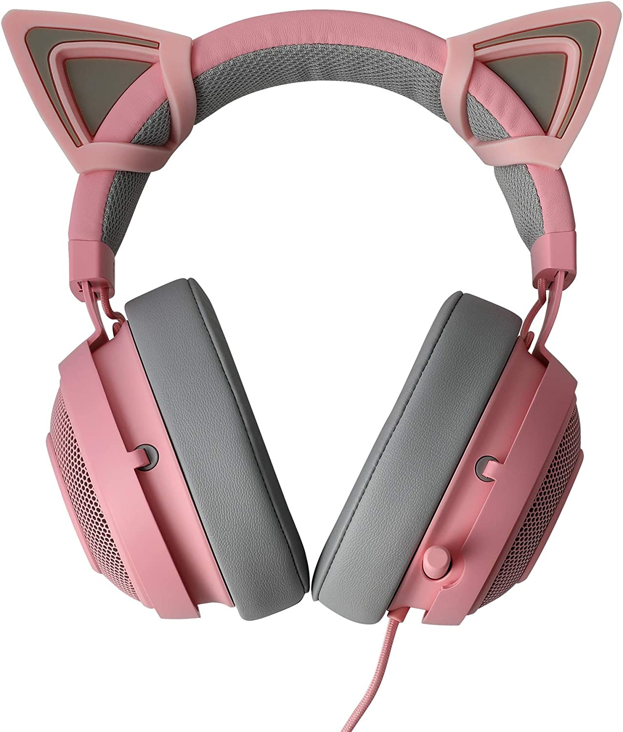 Amazon Com Wethinkeer Pink Kitty Ears For Headsets Lovely Attachable Accessory For Headphones Adjustable Straps Universal Fit Sturdy And Washable Add Fun To Your Life Ideal Gift For Anyone Home Audio