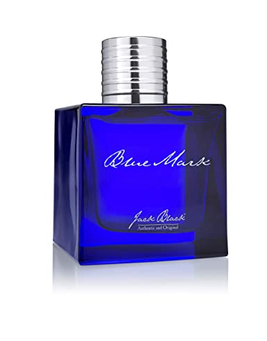 Jack Black – Blue Mark Eau de Parfum, 3.4 fl oz – Everyday Scent, Essential Oils, Watermint, Cilantro, Japanese Juniper, Ginger Essence, Driftwood, Patchouli, Bergamot, Refreshing Scent