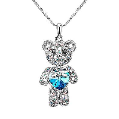 Amazon t400 jewelers teddy bear kids pendant necklace made t400 jewelers quotteddy bearquot kids pendant necklace made with swarovski elements crystal aloadofball Choice Image