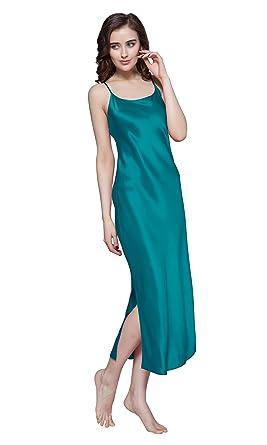 9095a9e120b73e LilySilk Seide Nachtkleider Nachthemd Nachtwäsche 22 Momme Lang (XS,  Türkis) Verpackung MEHRWEG