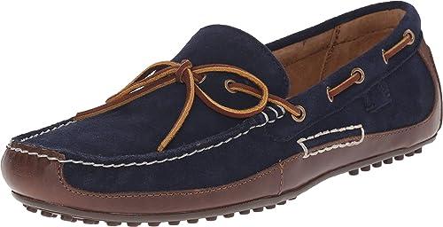 Polo Ralph Lauren Hombre Wyndings Slip-On Loafer, (Azul Marino, marrón Claro