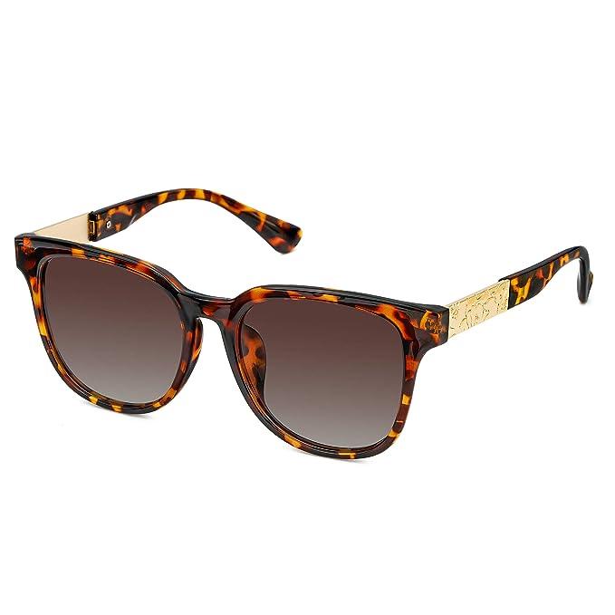 SIPHEW Gafas de Sol para Mujer con Protección UV Polarizada ...