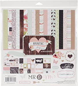 Carta Bella Paper Company CBRE41016 Rustic Elegance Collection Kit for Scrapbooking