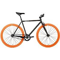 FabricBike- Vélo Fixie Noir, Fixed Gear, Single Speed, Cadre Hi-Ten Acier, 10Kg