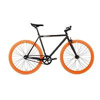 FabricBike Vélo Fixie Noir, Fixed Gear, Single Speed, Cadre Hi-Ten Acier, 10Kg