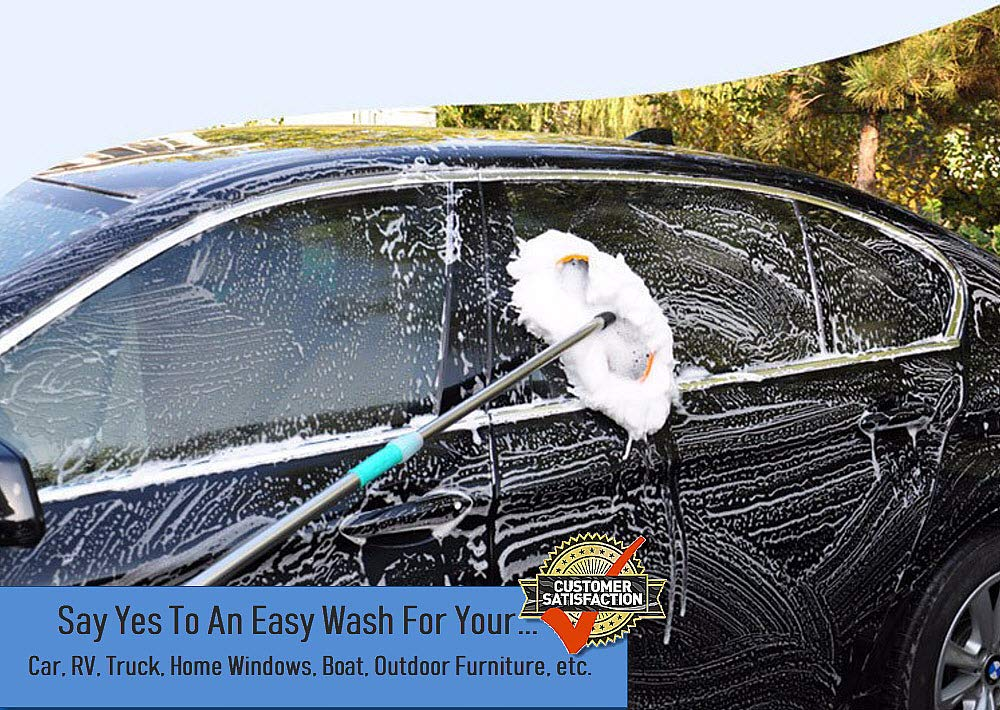 Car Cleaning Brush with Long Handle Best for Washing Your Car, Truck, RV, etc. - Extends 60'' Perfect for Hard to Reach Places by TB Anchor (Image #5)