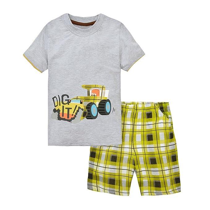 4b5437e65d2d Baby Box Baby boys' short Sleeve Infant Clothing Set T-shirt + short pants