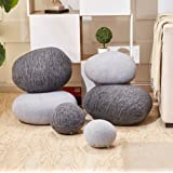 6 Piece Set Mixed Color Big Huge Stone Pebble Rock Living Pillows Pets Floor Cushions Decoration Throw Pillows Best Selling NO FILLING